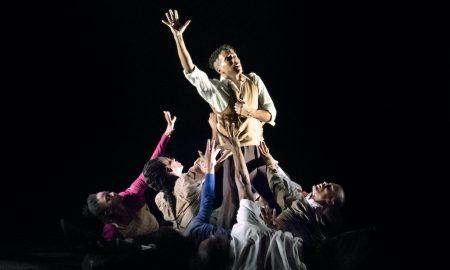 Alvin Ailey American Dance Theater in Rennie Harris' 'Lazarus'. Photo by Paul Kolnik.