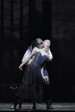 Matthew Lehmann as Young Dracula and Carina Roberts as Mina in 'Dracula'. Photo by Jon Green.