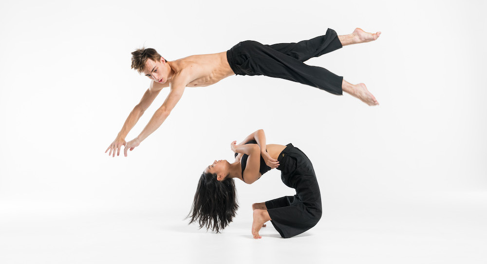 NZSD 3rd Year Contemporary Dance Students Stephanie Halyburton and Eden Kew. Photo by Stephen A'Court.