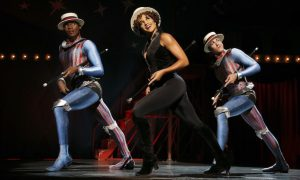 Borris York, Gabrielle McClinton and Mathew deGuzman in 'PIPPIN'. Photo by Joan Marcus.