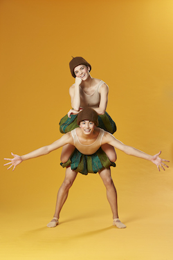 Keigo Muto and Sarah Ross as Snugglepot and Cuddlepie. Photo by Frances Andrijich.