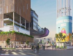 An artist impression of ECU City Campus and Yagan Square.
