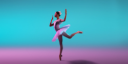 Carina Roberts for 'Coppélia'. Photo by Frances Andrijich and Wunderman Thompson.