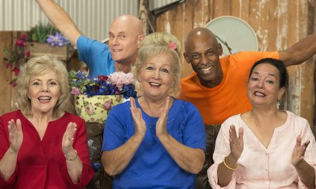 'THE NANNAS AND THE POPPAS' cast.
