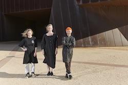 Freya Waterson, Kristy Ayre and Antony Hamilton. Photo by Peter Rosetzky.