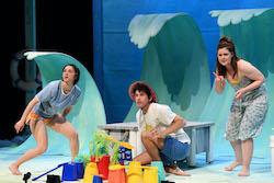 Jade Fuda, Kate Betcher and Alex Packard in 'Magic Beach'. Photo by James D Morgan.