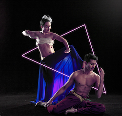 Karma Dance's Raina Peterson and Govind Pillai.