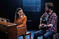 Stefanie Caccamo and Toby Francis in the 2019 production of 'Once'. Photo by Robert Catto.