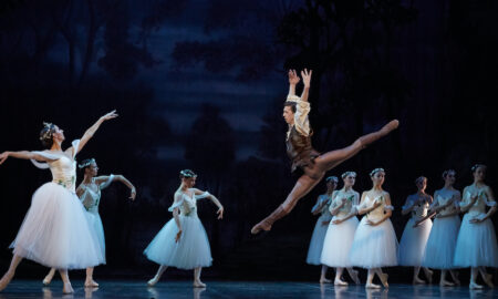 Jesse Homes as Hilarion with the dancers of West Australian Ballet as Wilis in 'Giselle'. Photo by Sergey Pevnev.