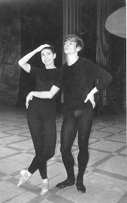 Margot Fonteyn and Rudolf Nureyev during rehearsals for the 1963 RAD gala. Photo courtesy of GBL Wilson.
