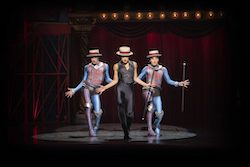 Matt Jenson, Gabrielle McClinton and Bayley Edmends in 'PIPPIN'. Photo by David Hooley.