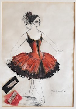 'Paquita' costume design for Margot Fonteyn. Photo courtesy of Royal Academy of Dance.