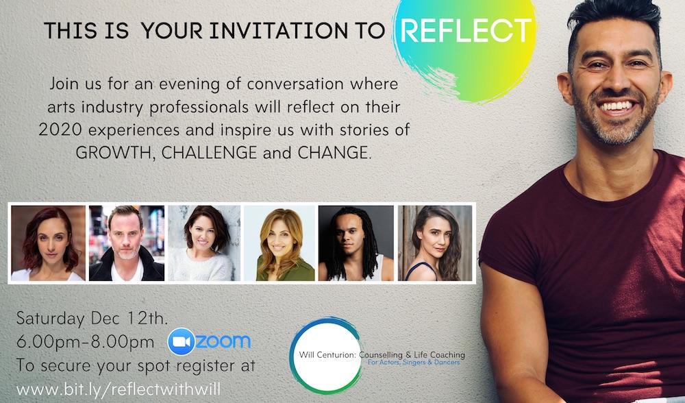 Will Centurion's 'REFLECT' invitation.