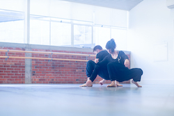 The New Zealand Dance Company's movement practice. Photo by Delainy Kennedy.