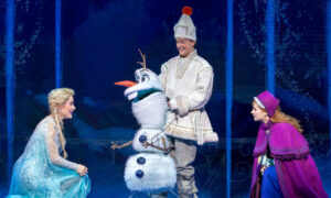 Jemma Rix, Matt Lee and Courtney Monsma in 'Frozen'. Photo by Lisa Tomasetti.