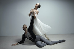 Juliet Burnett in 'Giselle' with Adam Bull at The Australian Ballet. Photo by Georges Antoni.