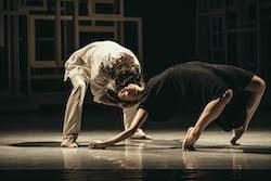 Juliet Burnett with Alain Honorez in Sidi Larbi Cherkaoui's 'Requiem' at Opera Ballet Vlaanderen. Photo by Filip Van Roe.