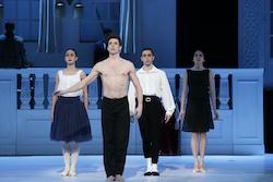 Kevin Jackson (second from left) in The Australian Ballet's 'Nijinsky'. Photo by Jeff Busby.