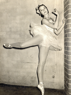 Tanya Pearson as a professional dancer.