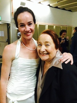 Tanya Pearson with Lucinda Dunn at her final performance with The Australian Ballet.