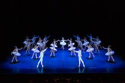 Neneka Yoshida and Queensland Ballet in 'Études'. Photo by David Kelly.