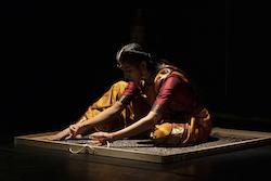 Rukshikaa Elankumaran, Amma: The Loss of our Motherland (2021, Sangam at Dancehouse). Photo by Arun Muñoz.