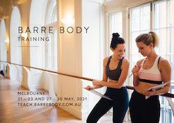 Barre Body teacher training.