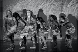 The South Australian First Nations Dance Collective, led by Director of Choreography Gina Rings. Photo by Luke Currie Richardson.