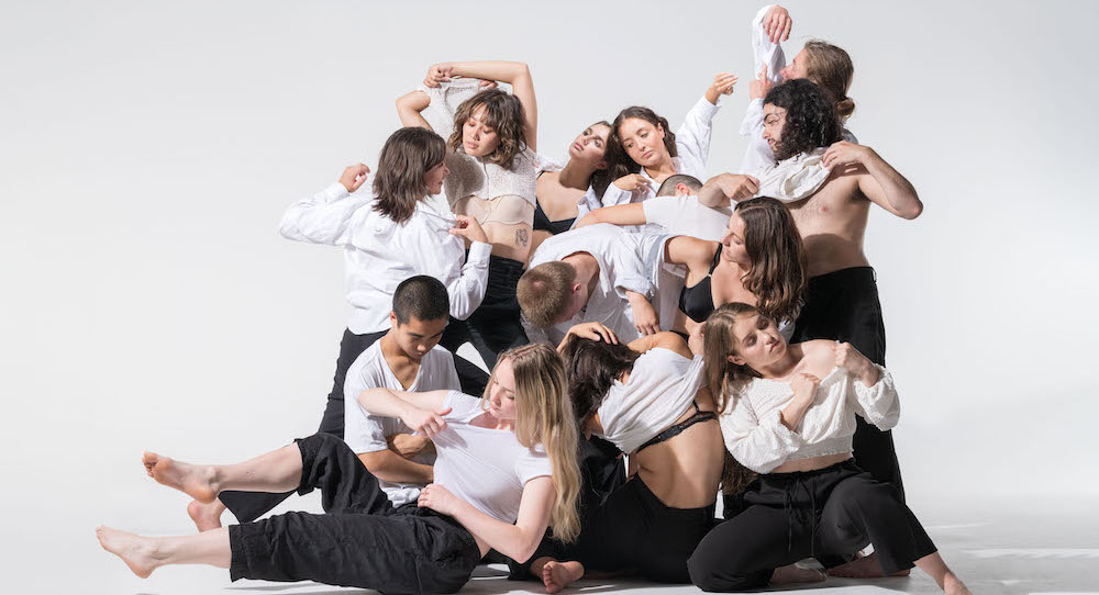 New Zealand School of Dance 3rd Year contemporary dance students 2021. Photo by Stephen A'Court.
